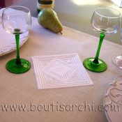 Incrustation d'un boutis dans un set de table