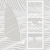 LeCIEL, le SOLEIL et la MER [43*117cm]